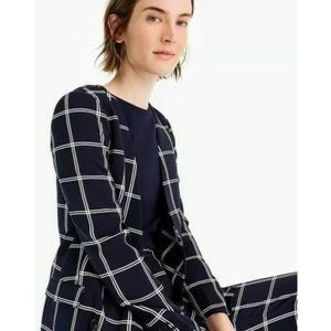 NWT J. Crew 365 French Girl Window Pane Blazer 4P